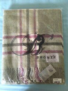 Bronte by Alexander Moon 100% Merino Wool Fern Throw Blanket BNWT Made in UK