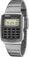 Casio CA506-1 8 Digit Calculator Watch Stopwatch Stainless Steel Band Brand New