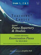 Teachers Choice Piano Repertory & Studies 2013-14 Grades 1 2 3 Music TUTOR Book