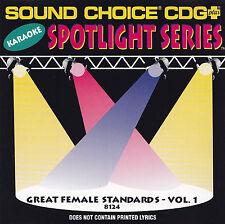 GREAT FEMALE STANDARDS Vol.1 - CD - SOUND CHOICE CDG PLUS - KARAOKE