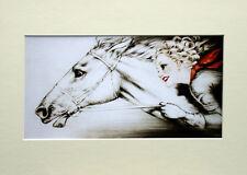 """Louis Icart Mounted Print - Par Sang LC11 - Erotic Art  SIZE  14"""" X 10"""""""
