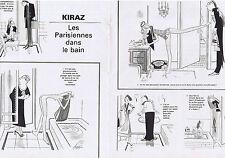PUBLICITE ADVERTISING 054 1978 KIRAZ les Parisiennes dans le bain  (2 pages)