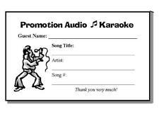 200 Karaoke Song Request Pads, 25 sheets per pad (5000 sheets)