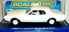 SCALEXTRIC C3443 67' MERCURY COUGAR XR7 W/WORKING LIGHTS WHITE DPR 1/32 SLOT CAR