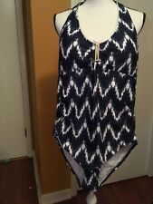 NWT Jones New York Bathing Suit    Indigo Style JNY05-607 Size 14 MSRP$110