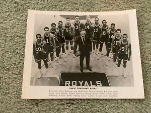 1966 Cincinnati Royals NBA Team Basketball Photo Oscar Robertson Jerry Lucas