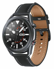 Samsung Galaxy Watch3 SM-R845F 45mm Stainless Steel Case with Leather Strap - Mystic Black (4G) - SM-R845FZKAXSA
