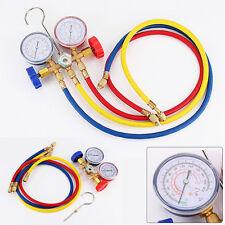 Car A/C Refrigeration Air Conditioning AC Diagnostic Manifold Gauge Tool Kit USA