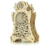 Mechanical Puzzle Wooden City MAGIC CLOCK 3D Wooden Model for self-assembly