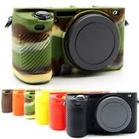 6 Colors Silicone Camera Case Skin Protector Bag Cover For Sony A6500 Camera Top