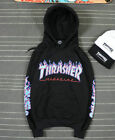 2016 New men's Hip-hop skateboard Fleece hoodie Flame Thrasher Sweatshirts
