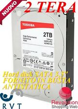 Hard Disk 2000 GB  per DVR PC NAT TOSHIBA P300 SERIES sata Videosorgeglianza