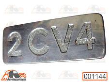 Monogramme aluminium - NEUF - pour coffre / malle de Citroen 2CV4  -1144-