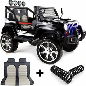 Jeep 4x4 Off Road, 4 Motoren, 2 Akkus Kinderauto Kinderfahrzeug Elektroauto schw