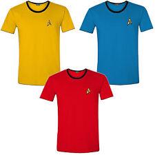 Star Trek Enterprise Crew Uniform T-Shirt Männer Men Fasching Kostüm Halloween