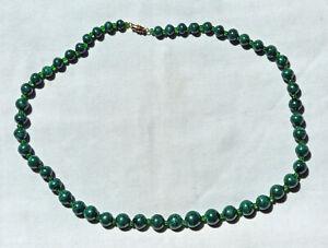 Beautiful Malachite bead necklace, 22 ½ inches long