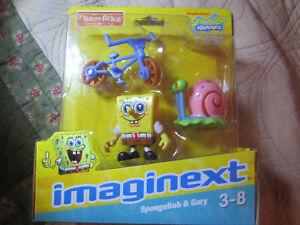 Imaginext SpongeBob SquarePants SpongeBob & Gary Snail Bike Bicycle Figures NEW