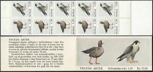 Norway 775-776a booklet,MNH.Michel 827-828 MH 4. Birds.Anser erythropus,Falcon