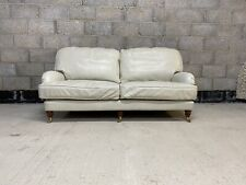Stunning High Quality Genuine Ivory Leather Howard Style Sofa