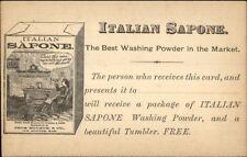 Italian Sapone Washing Powder Soap Thos Hersom & Co New Bedford MA c1900