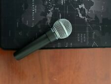 Shure SM58 microphone, includes cable to connect to a mixer