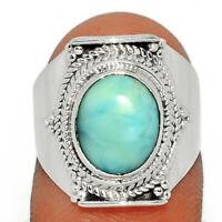 Genuine Larimar - Dominican Republic 925 Silver Ring Jewelry s.6.5 BR16508  XGB