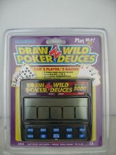 Radica Draw Poker Wild Deuces Royal Flush 5000 Model 1414 Hand Video Game New
