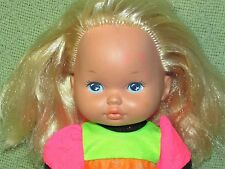 Vintage LITTLE MISS MAKE UP 1988 Mattel Doll Blond Blue Eyes 2 Piece Outfit 12""