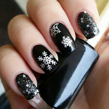 Nail Art Transfer Foils Sticker Xmas Snowflake Holographic Paper Tips Gift L7S