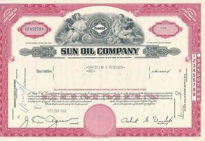 SUNOCO, Sun Oil Company, New Jersey,  - histororische Aktie, Öl-Industrie USA
