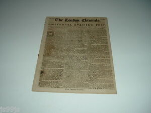 THE LONDON CHRONICLE OR, UNIVERSAL EVENING POST Feb 21-23 1758 (FRENCH AND INDIA