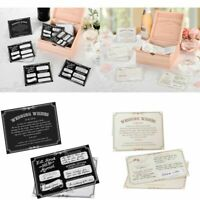 Wedding Wishes Cards Guest Book Alternative Advice Newlyweds Couple Bride Groom