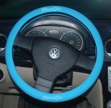 Light Blue Silicone Resistance Car Steering Wheel Cover Fits diameter 34cm-38cm