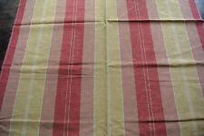 Osborne & Little Gold & Rust Stripe Woven Moire fabric - RRP £67 per metre