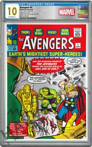 MARVEL COMICS - AVENGERS #1 - SILVER FOIL - CGC 10 GEM MINT FIRST RELEASE