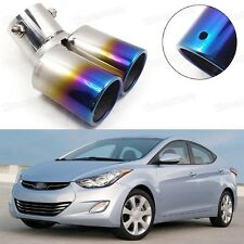Double Outlets Exhaust Muffler Tip Tail Pipe for Hyundai Elantra 2011-2016 #1020