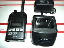 iCOM IC-F50V  VHF Radio W/ Charger Antenna Ect TESTED 100% Working!