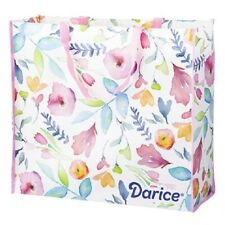Durable Plastic Floral Tote Bag-Large