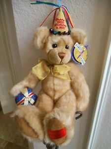 "FIRST & MAIN 100TH ANNIVERSARY 15 "" TEDDY ROOSEVELT JOINTED BEAR FREE SHIPPING"