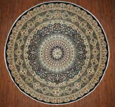 Traditional Hand made Persian Round Area Rug Black Color Turkish Rugs (12 x 12)