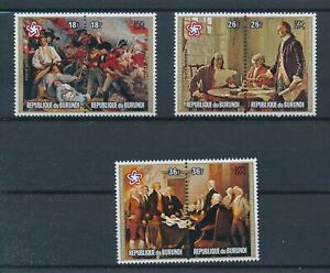 [17395] Burundi 1976 good airmail set very fine MNH stamps