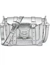 ❤️ Michael Kors Manhattan Leather Silver/Silver Crossbody