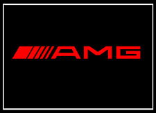 2x Mercedes AMG Schriftzug rot 100 x 10 mm Aufkleber Sticker