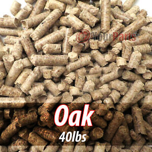 40lbs Of 100% Pure Oak Wood Cooking BBQ Pellets Smoker Grill