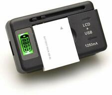 Universal Cell Phone Battery Charger with LCD, Cradle Dock, Wall Mount 100-240V