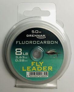 DRENNAN 8 LB. FLUOROCARBON LEADER MATERIAL / 54 YARDS **NEW**
