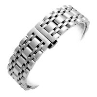 Mens Watch Band Strap Solid Stainless Steel Bracelet Silver Wrist Link 16 - 22mm