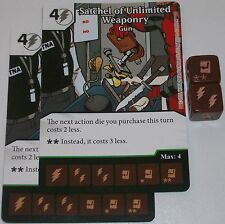 2 x SATCHEL OF UNLIMITED WEAPONRY: GUN 73 Deadpool Dice Masters