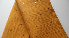 SALE - Mousseline  50 x 140 mais mit Tupfen in gold