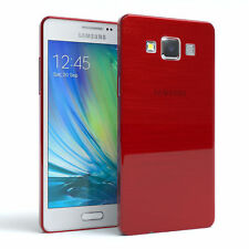 Schutz Hülle für Samsung Galaxy A5 (2015) Brushed Cover Handy Case Rot
